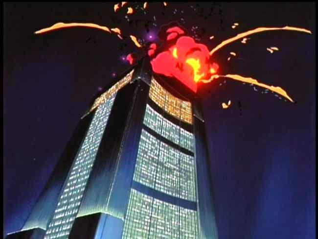 Bubblegum Crisis Skyscraper Explosion